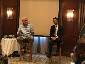 Steve Chandler and Ankush Jain speaking on Waking Up